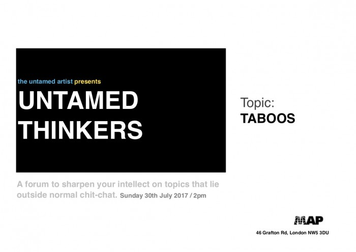 untamed thinkers poster TABOOS.