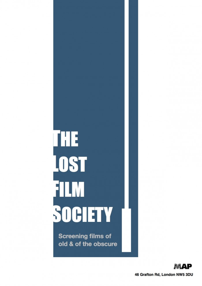 The Lost Film Society Poster blue